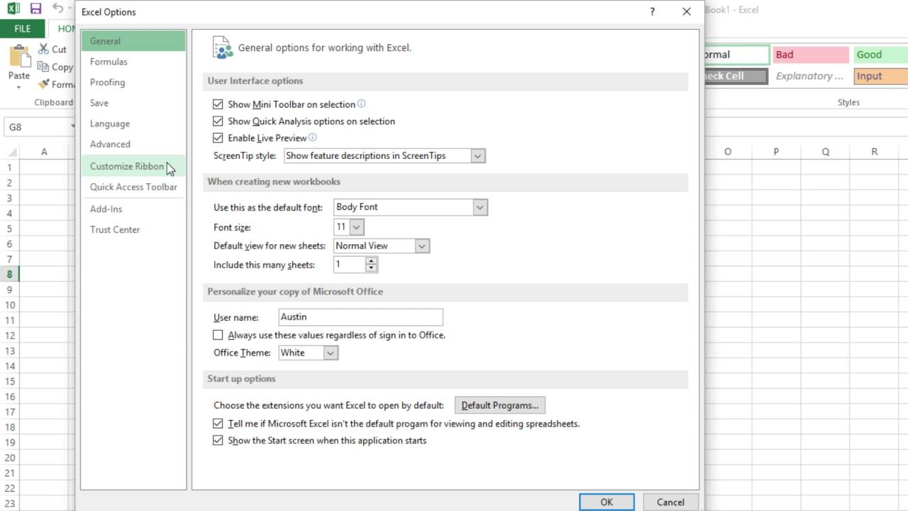 how to make the developer tab show in excel 2010