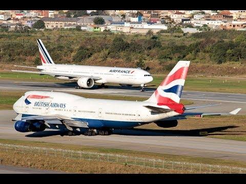 Boeing 777 300ER - Air France - decolando de São Paulo - SBGR - para Paris CDG