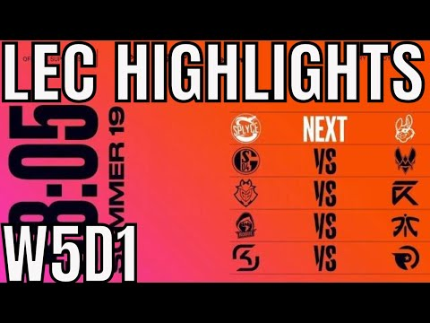 LEC Highlights ALL GAMES Week 5 Day 1 Summer 2019 League of Legends EULCS