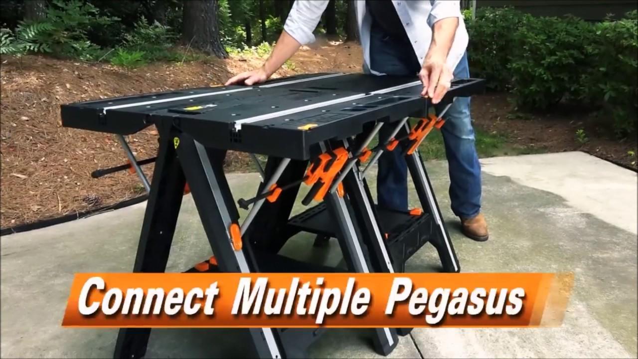 Bancada Multiuso Cavalete Worx Pegasus Wx051 A Mega Loja Youtube