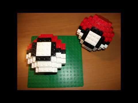 How To Build A 3d Lego Pokeball Youtube