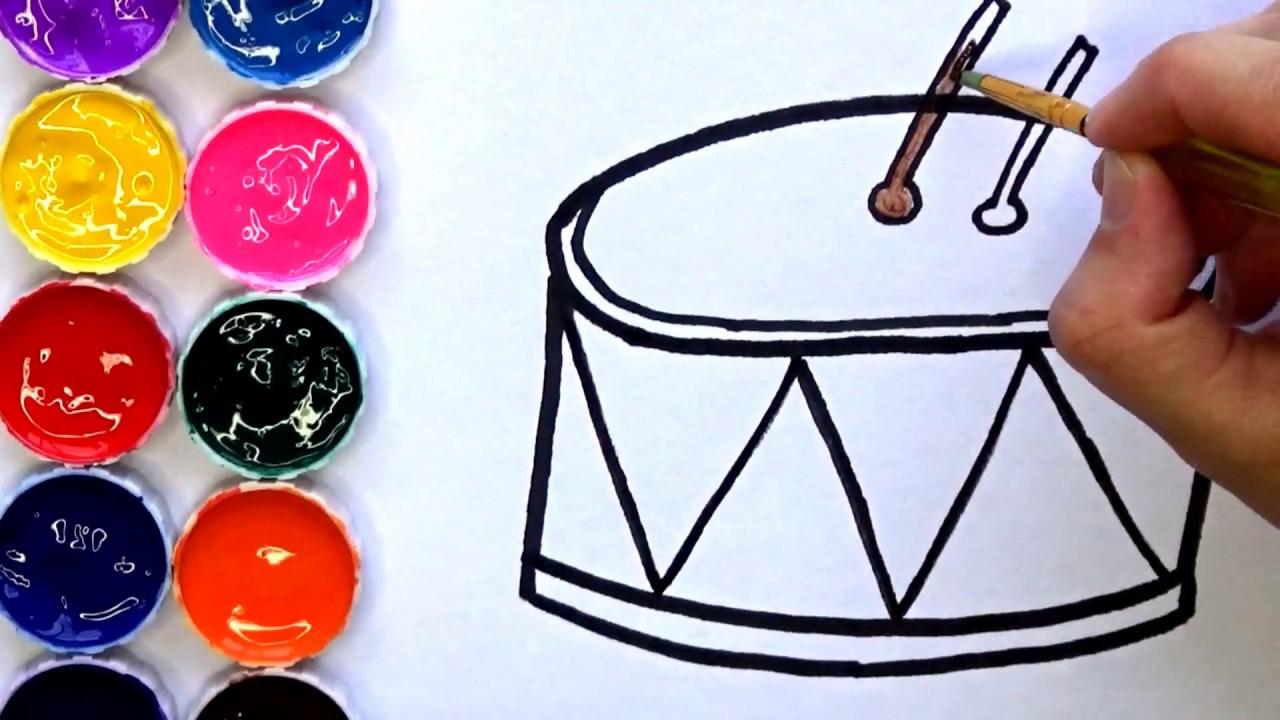 Dibujos De Una Tambora Y Guira: Como Dibujar Y Colorear Un Tambor