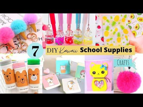 7 DIY School Supplies / Kawaii Back to School Crafts