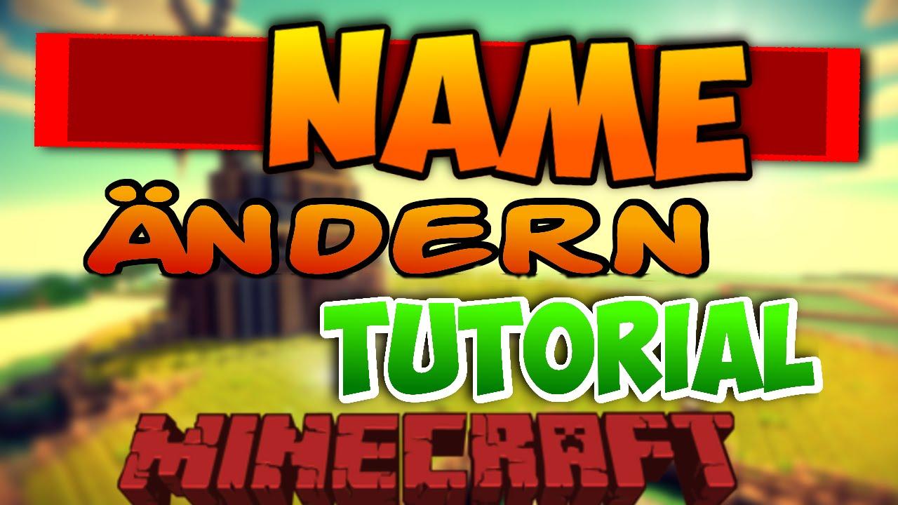 TUTORIAL Minecraft Ingame Name ändern IFöhnix Fabi YouTube - Minecraft ingame name andern