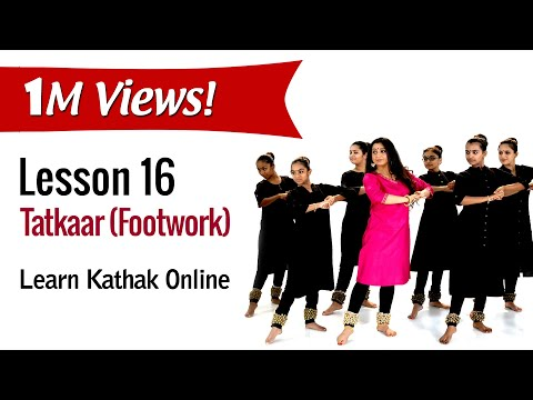 Tatkaar (Footwork) Teental - Demonstration with the Students | Basic Dance Steps | Lesson 16/222