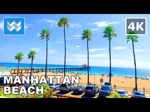 Walking Tour Of Manhattan Beach Pier & The Strand In South Bay, California 🎧【4K】
