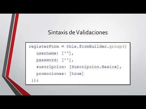 8-12 - Sintaxis de Validaciones en Formularios Reactivos | Programando en Angular 8 thumbnail