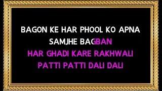Baghon Ke Har Phool Ko Apna - Karaoke - Baghban - Amitabh Bachchan & Richa Sharma