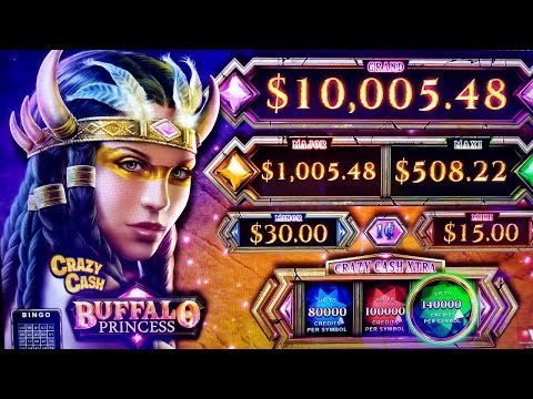 ★G2E 2018★ NEW Buffalo Princess CRAZY CASH Slot Machine PREV