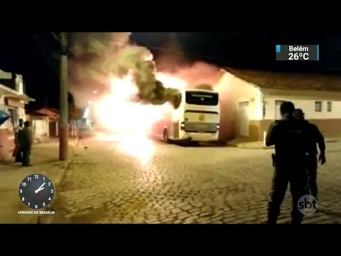 Número de ataques a ônibus em Minas Gerais chega a 102 desde domingo   SBT Notícias (08/06/18)