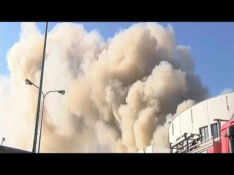 Incêndio consome parte da Universidade de Creta