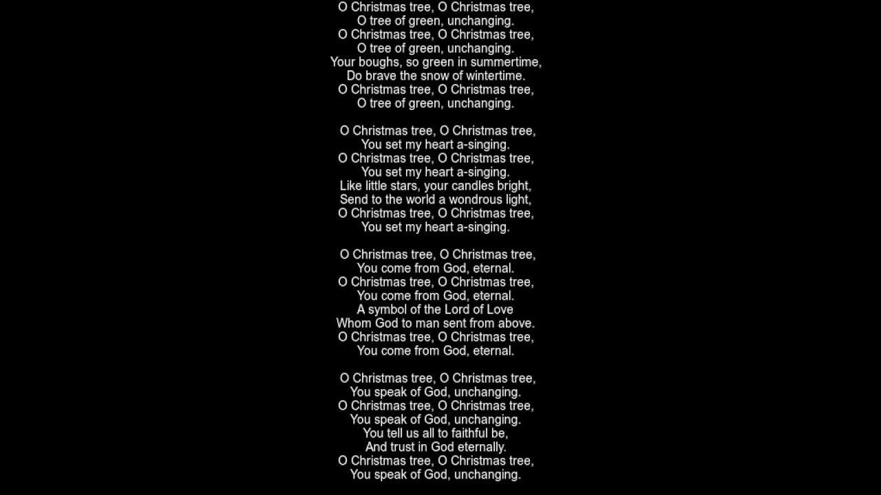 O Christmas Tree Lyrics - traditional folk song - YouTube