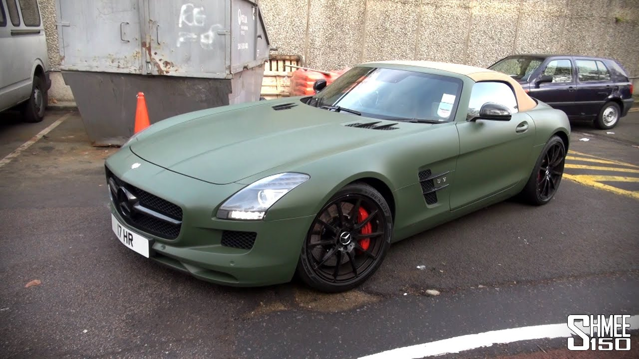 Military Green Mercedes Sls Roadster With Capristo