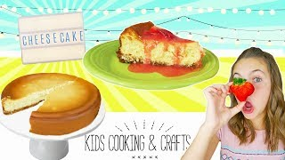 BEST Strawberry New York Style Cheesecake! | How To Kids Cooking