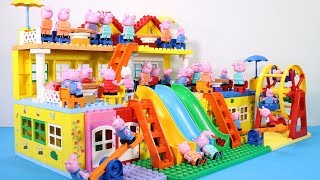 Peppa Pig Lego House Creations Toys - Lego House With Water Slide Toys For Kids #3