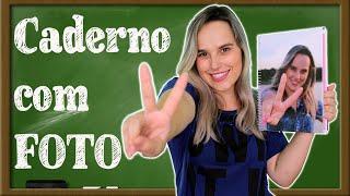 Sua FOTO na CAPA do CADERNO - Volta ás aulas - DIY por Coisas de Jessika