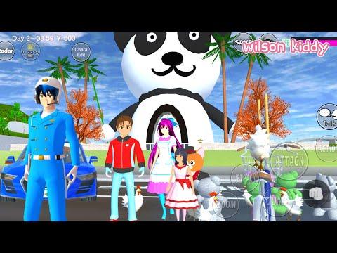 Yuta Sakura Raksasa Naik Mobil Polisi Ke Rumah Panda 🤣😂 | Sakura Simulator | Game Wilson Kiddy