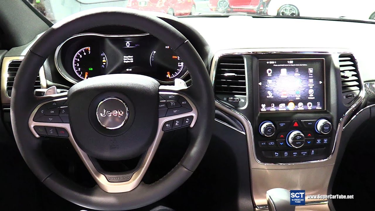 2016 jeep grand cherokee 75th anniversary interior walkaround 2016 detroit auto show youtube. Black Bedroom Furniture Sets. Home Design Ideas