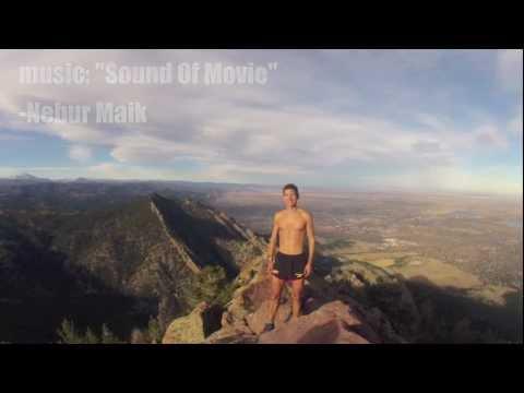Running up Bear Peak in Boulder, Colorado