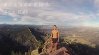 Running up Bear Peak in Boulder, Colorado