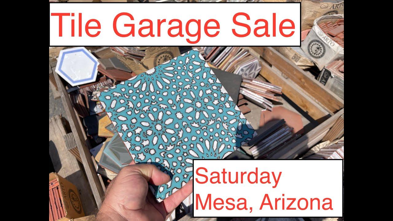 tile garage sale boneyard sale seconds sale