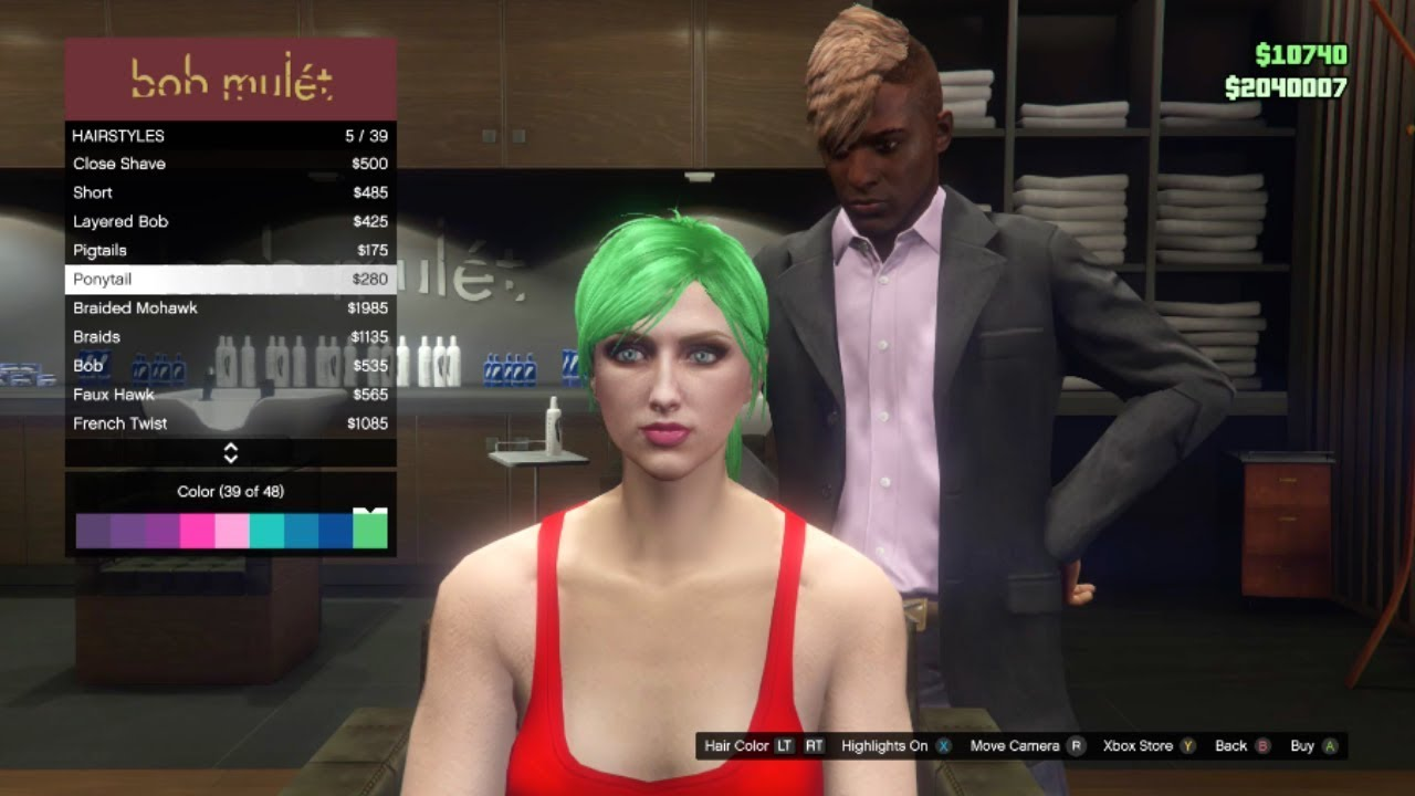 GTA Online - All Female Hairstyles (Updated)
