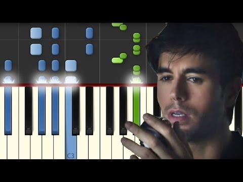 El Perdedor / Enrique Iglesias / Piano Tutorial / Synthesia / Notas Musicales