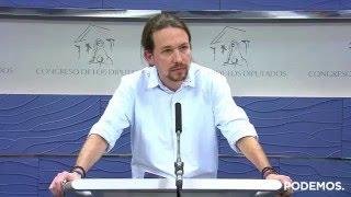 2/2/2016 Declaraciones a prensa de Pablo Iglesias desde el Congreso de los Diputados