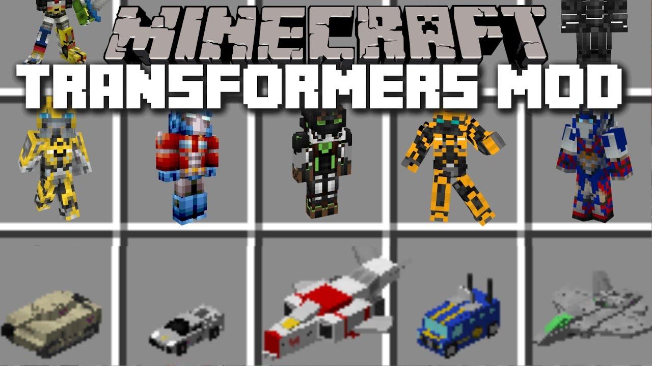 Мод на майнкрафт 1.7.10 на трансформеров | Transformers