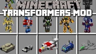 Minecraft TRANSFORMERS MOD / OPTIMUS PRIME FIGHTS WITH HIS WEAPONS!! Minecraft