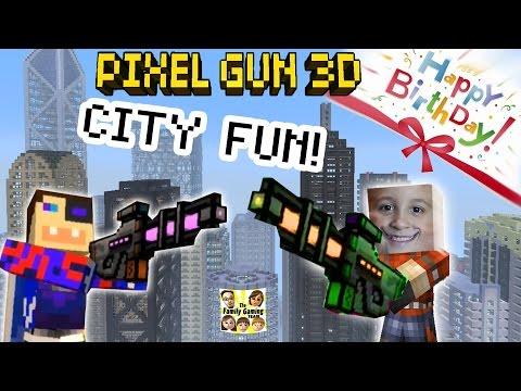 Dad & Son play Pixel Gun 3D: Fun in the City!   Happy Birthday Teevers! pt. 16