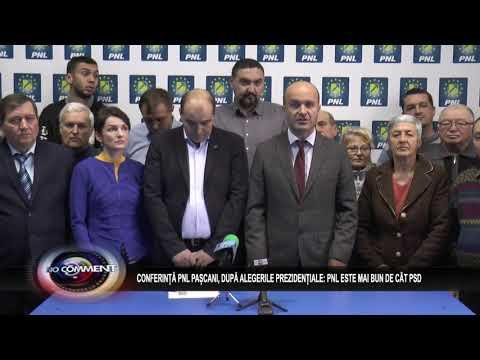CONFERINȚĂ PNL PAȘCANI, DUPĂ ALEGERILE PREZIDENȚIALE: PNL ESTE MAI BUN DECÂT PSD