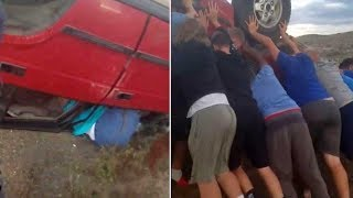 Football Team Lifts SUV to Free Woman Trapped Underneath