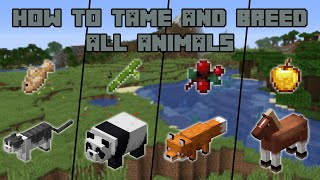 How to Tame and Breed all Animals in Minecraft