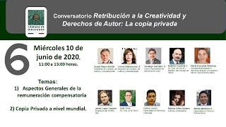 6ta Sesión Conversatorio Retribución a la Creatividad y Derechos de Autor: La copia privada