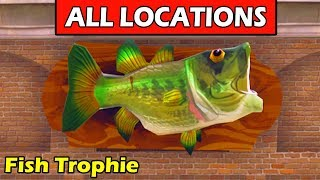 """Dance with a Fish Trophy at Different Named Locations"" ALL 7 LOCATIONS (Fortnite Week 8 Challenge)"
