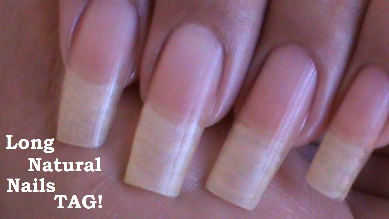 Long Natural Nails! TAG! ( Love4Nails ) - YouTube