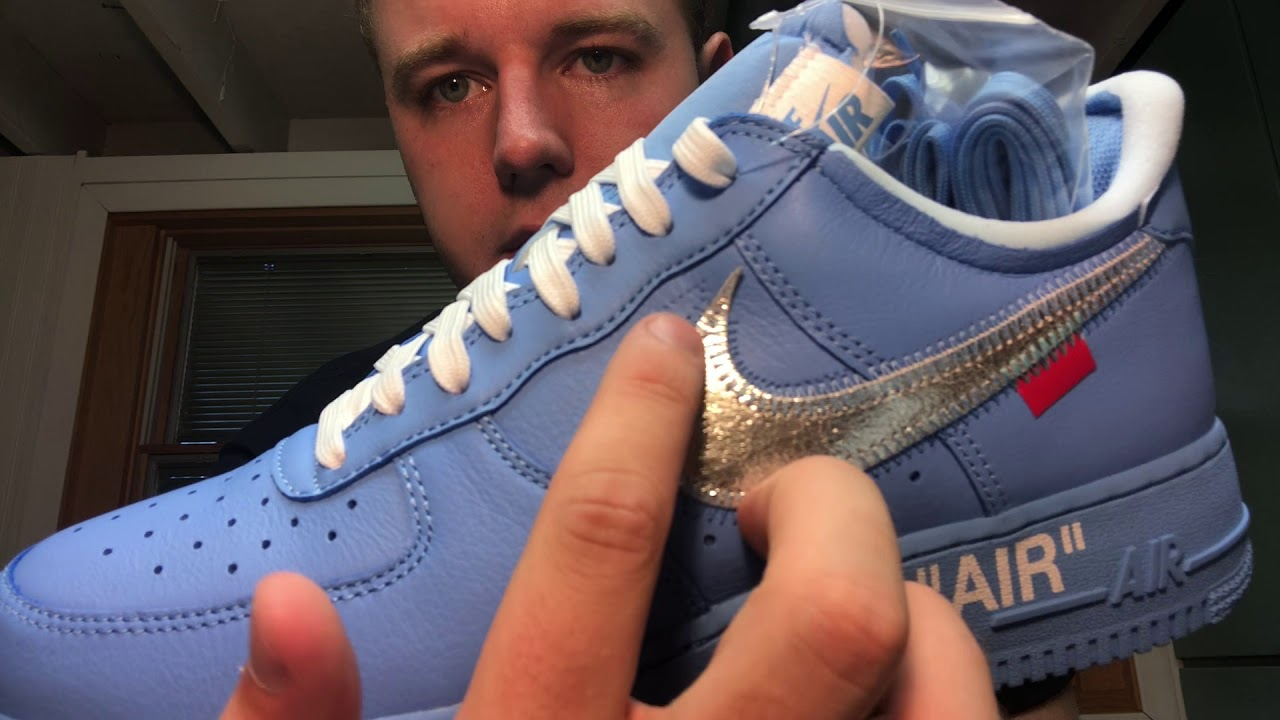 Air Force 1 Low Off White Mca University Blue Ci1173 400 Authenticity Guide Legit Check Real Youtube