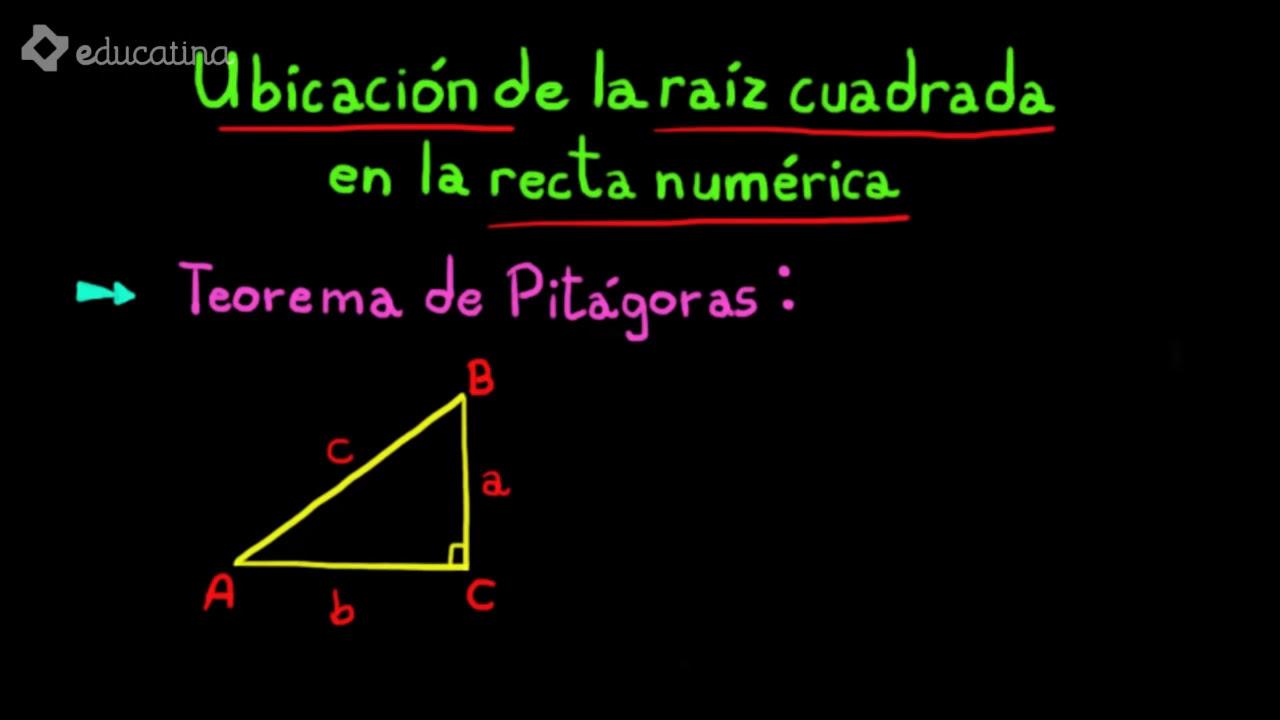 Ubicación de la raiz cuadrada en la recta numérica - YouTube