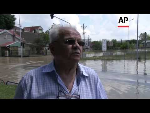 Town of Obrenovac still partially submerged by floodwaters