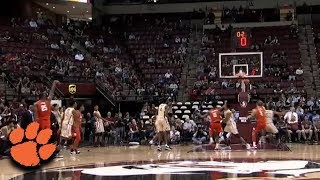 Clemson's Aamir Simms Sinks 2 Just Before Halftime thumbnail