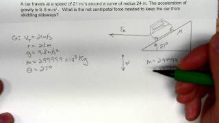 Uniform Circular Motion on an inclined track