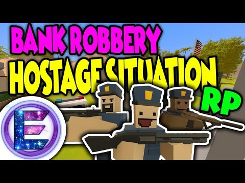 Unturned - Bank robbery hostage situation! | Police Force ( Unturned RP )