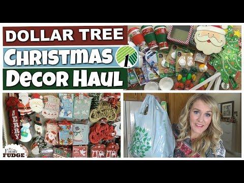 HUGE DOLLAR TREE CHRISTMAS DECOR HAUL! || Kids Craft & Gift Basket Supplies