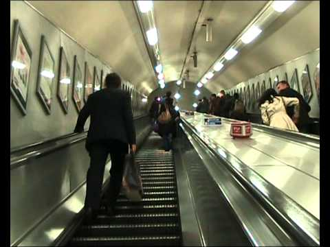 London Tube Exploring, going up to the Oxford Circus Streets