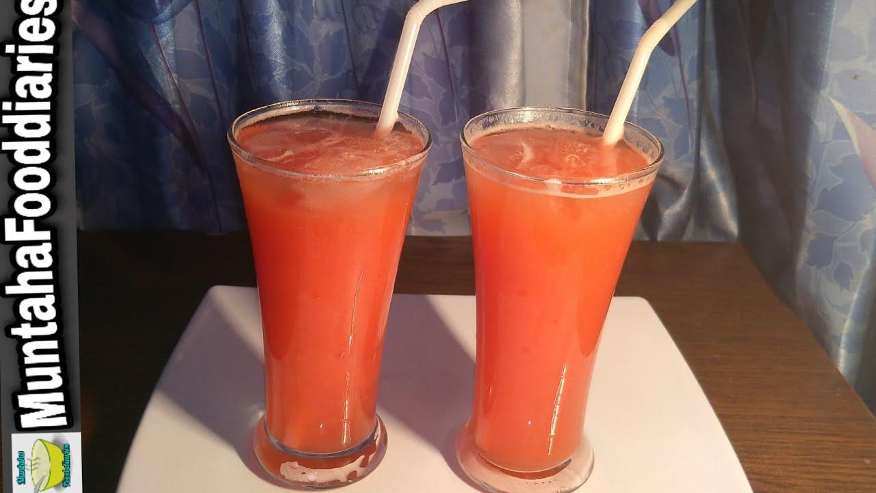 Aloo bukharay ka sharbat   plums juice recipe by Muntaha food diaries