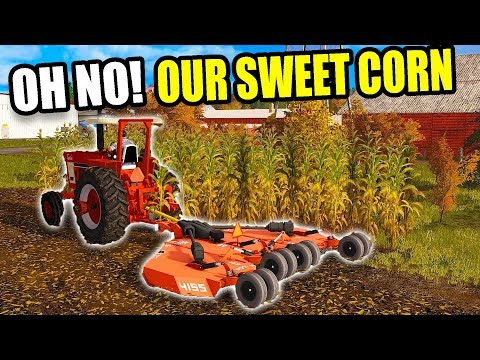 MOWING DOWN MRS. SQUAD'S SWEET CORN! WITH THE RHINO | FARMING SIMULATOR 2017