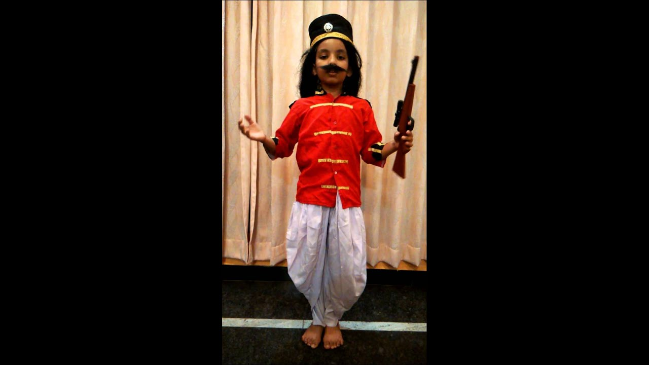 Role play of Mangal pandey by Shreyas Soppimath