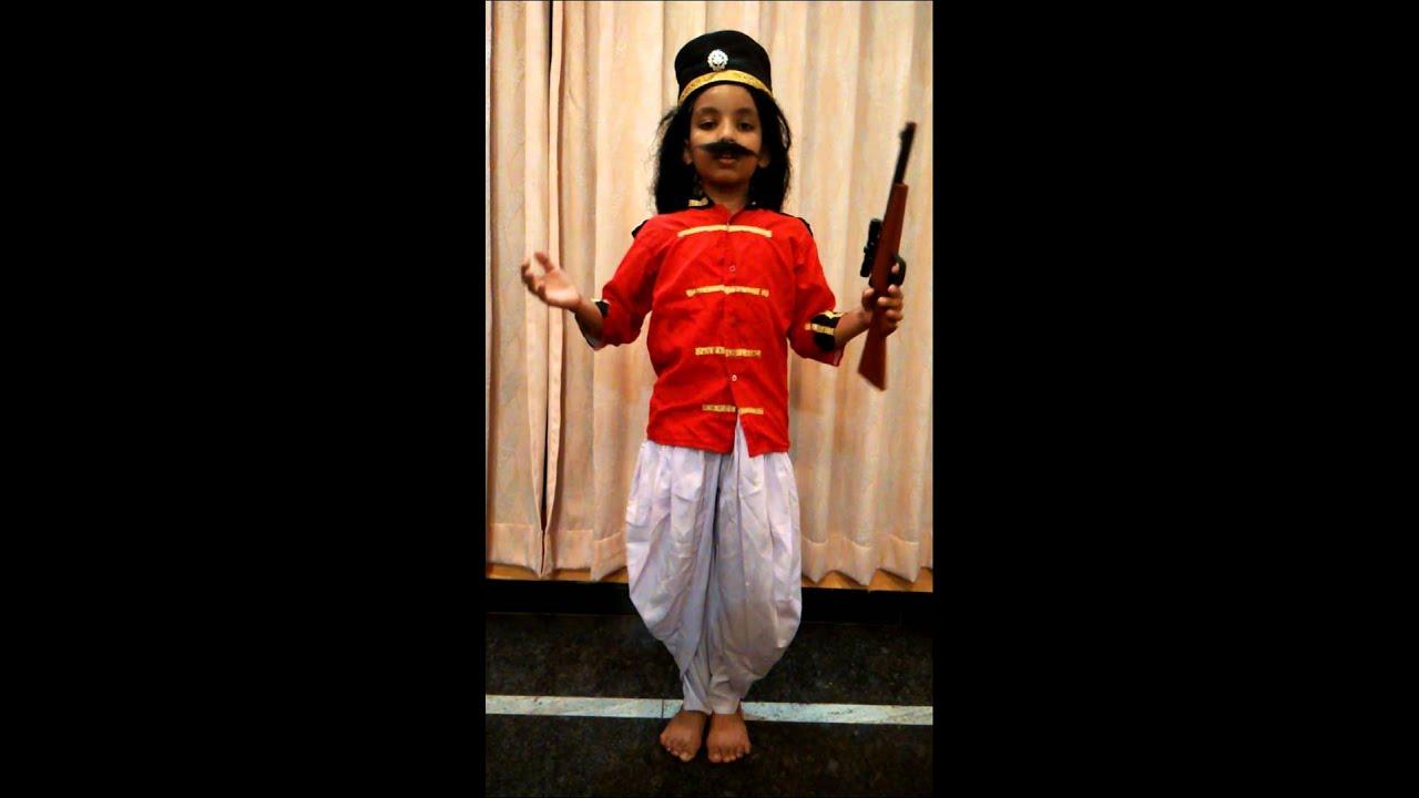 Role play of Mangal pandey by Shreyas Soppimath