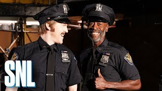 SNL Host Don Cheadle and Alex Moffat Are Buddy Cops